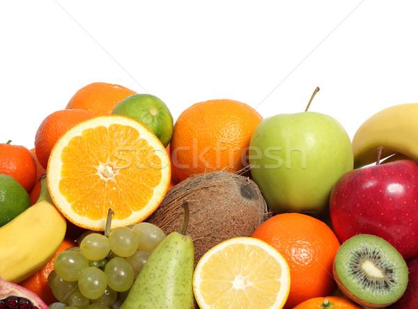 свежие фрукты яблоко фон лимона банан тропические Сток-фото © leventegyori