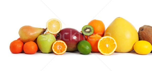 Vitamin meyve gıda elma kokteyl muz Stok fotoğraf © leventegyori
