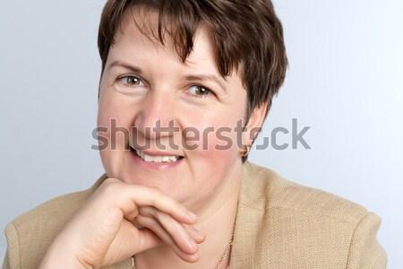 Güzel bayan portre kadın mutlu model Stok fotoğraf © leventegyori