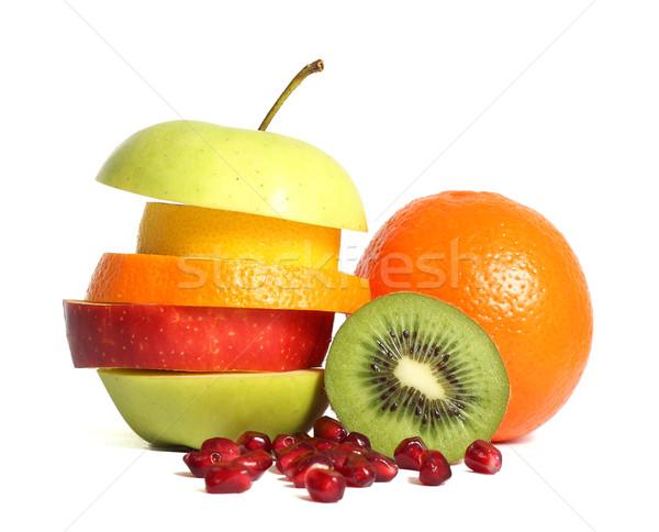 Fresh mixed fruit diet Stock photo © leventegyori