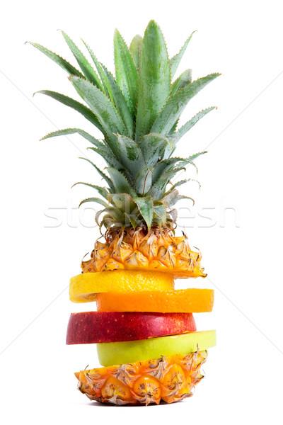 Vers gemengd tropische vruchten natuur appel groene Stockfoto © leventegyori