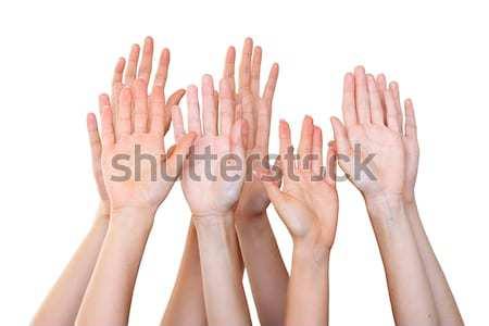People raise hands Stock photo © leventegyori