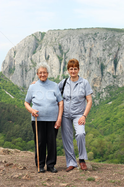 Seniors on a walking day Stock photo © leventegyori