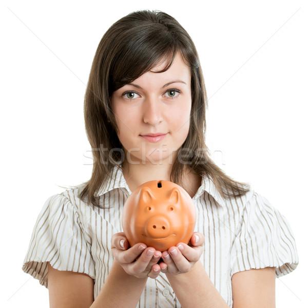 女性 貯金 ビジネス 少女 笑顔 ストックフォト © leventegyori