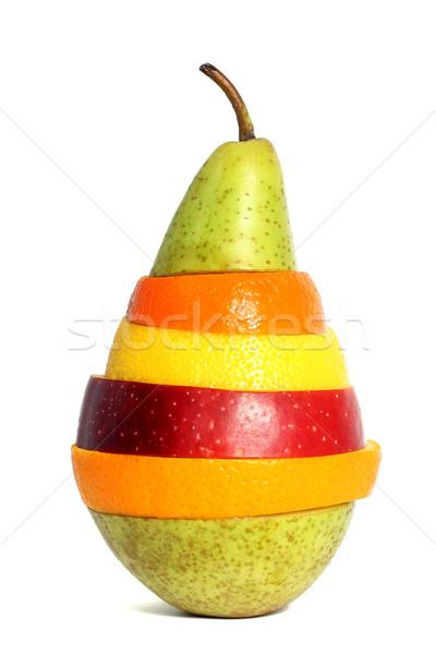 Pera mista frutti mela salute gruppo Foto d'archivio © leventegyori
