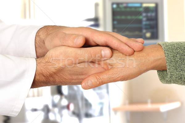 помогают рук больницу человека медицинской домой Сток-фото © leventegyori