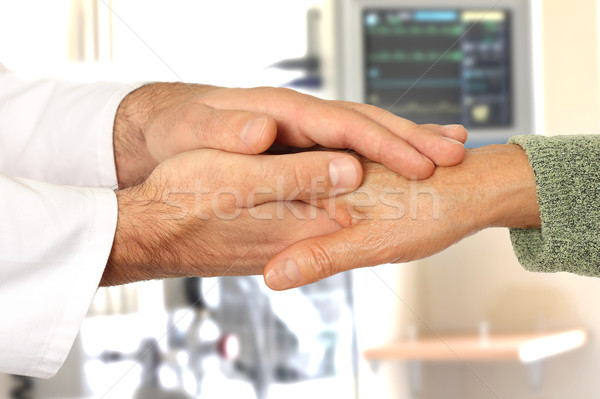 Photo stock: Aider · mains · hôpital · homme · médicaux · maison