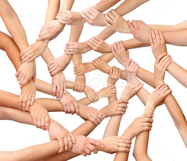 Ring of many hands team Stock photo © leventegyori