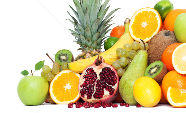 Composition with fruits isolated Stock photo © leventegyori