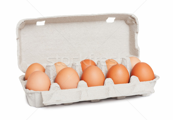 яйца пакет продовольствие природы окна куриные Сток-фото © leventegyori