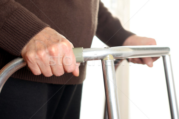 Patient using a walker Stock photo © leventegyori