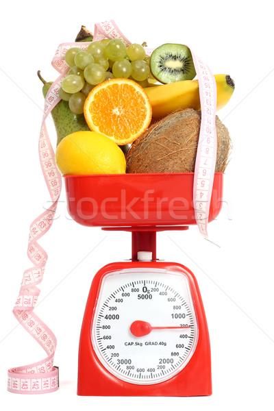 масштаба плодов продовольствие тело яблоко здоровья Сток-фото © leventegyori