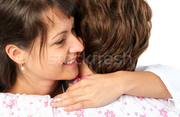 Patient and caregiver hugging Stock photo © leventegyori