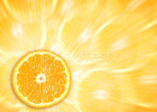 Oranje natuur groep drinken ontbijt plant Stockfoto © leventegyori