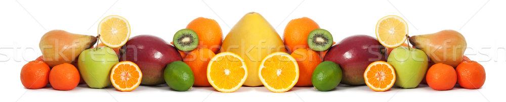 Alimentaire fruits bannière santé fond citron Photo stock © leventegyori
