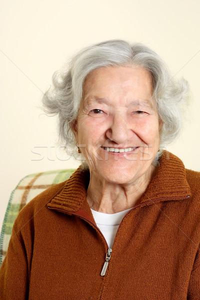 Portrait of a senior woman Stock photo © leventegyori