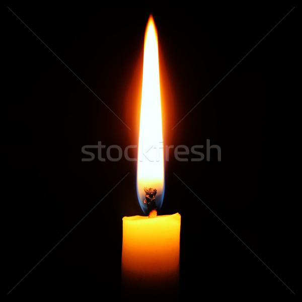 свечу свет ночь черный мира пламени Сток-фото © leventegyori