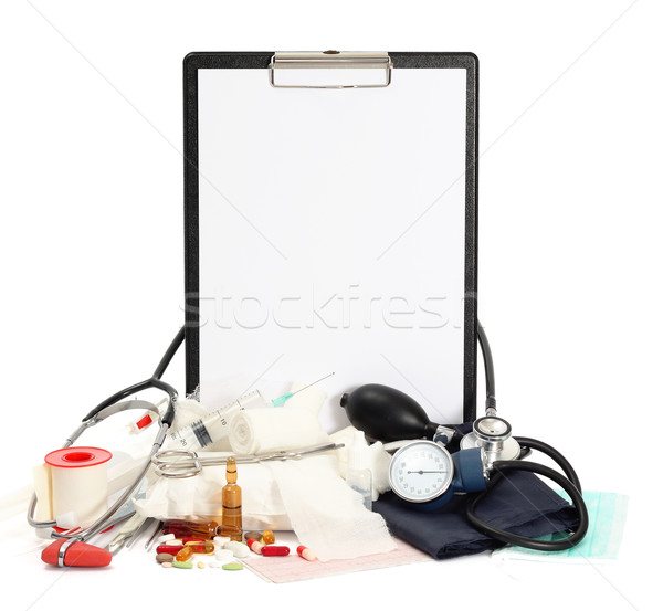 薬 医師 健康 ツール 薬局 シリンジ ストックフォト © leventegyori