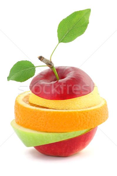 Karışık meyve elma yeşil kırmızı renk Stok fotoğraf © leventegyori