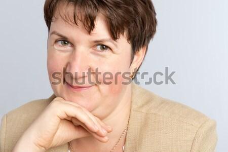Supérieurs visage femmes modèle santé Photo stock © leventegyori