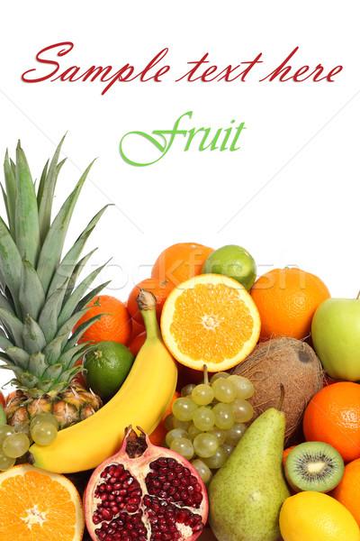 фрукты изолированный текста группа банан тропические Сток-фото © leventegyori