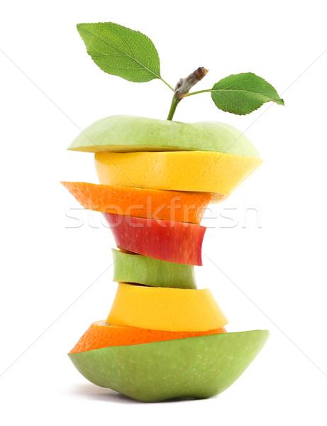 S'adapter fruits pomme orange marché couleur Photo stock © leventegyori