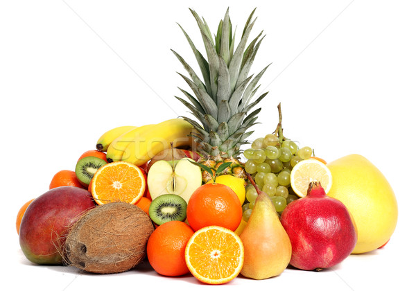 Grup meyve muz tropikal meyve suyu tatlı Stok fotoğraf © leventegyori