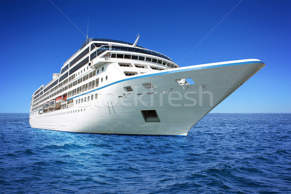 Stock photo: Huge luxury cruise ship