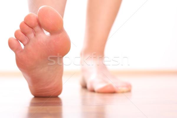 Voet gezondheid achtergrond metaal pijn zorg Stockfoto © leventegyori