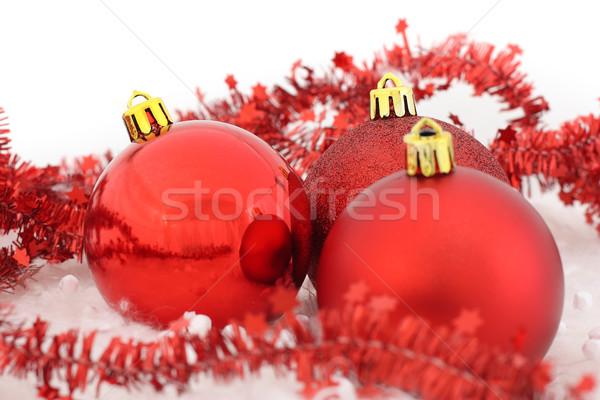 Noël heureux lumière espace rouge Photo stock © leventegyori