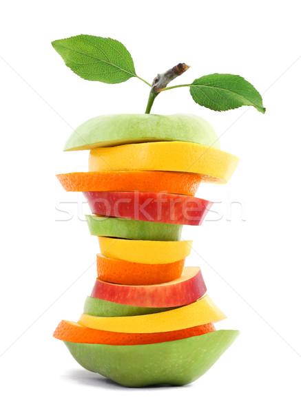 Egészséges karcsú gyümölcs mix alma narancs piac Stock fotó © leventegyori