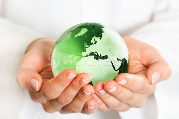 стороны зеленый стекла мира интернет Сток-фото © leventegyori