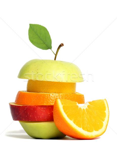 Fresh mixed fruit Stock photo © leventegyori