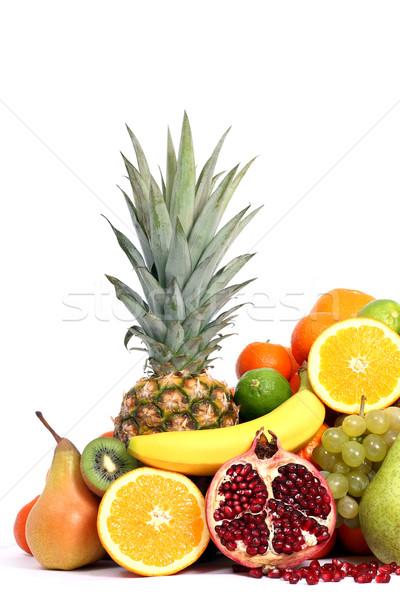Gezonde vruchten appel achtergrond citroen banaan Stockfoto © leventegyori