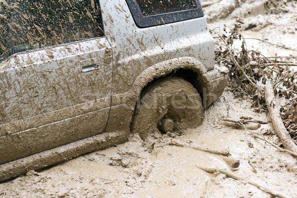 Stock photo: Car stuck in mud