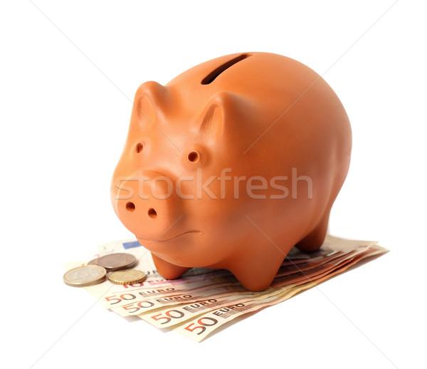 Piggy Bank евро бизнеса Финансы банка золото Сток-фото © leventegyori