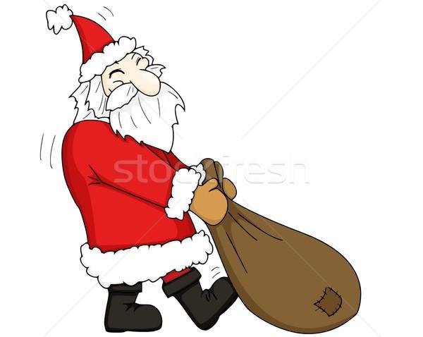 サンタクロース 顔 幸せ 髪 冬 色 ストックフォト © Li-Bro