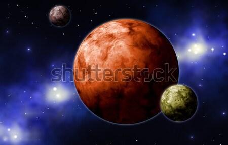 extrasolar planets Stock photo © Li-Bro