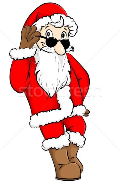 サンタクロース サンタクロース サングラス ギフト クール 現在 ストックフォト © Li-Bro