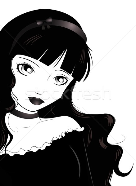 Gothic Lolita Stock photo © Li-Bro