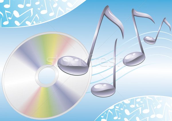 音楽 青 サウンド 3  孤立した 実例 ストックフォト © Li-Bro