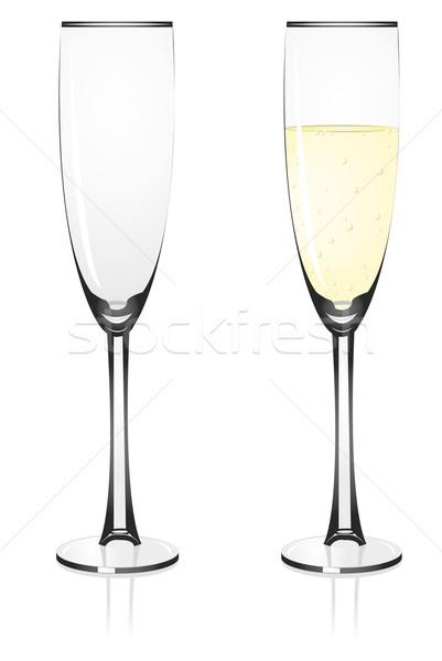 ワイングラス 眼鏡 青 ドリンク シャンパン ストックフォト © Li-Bro