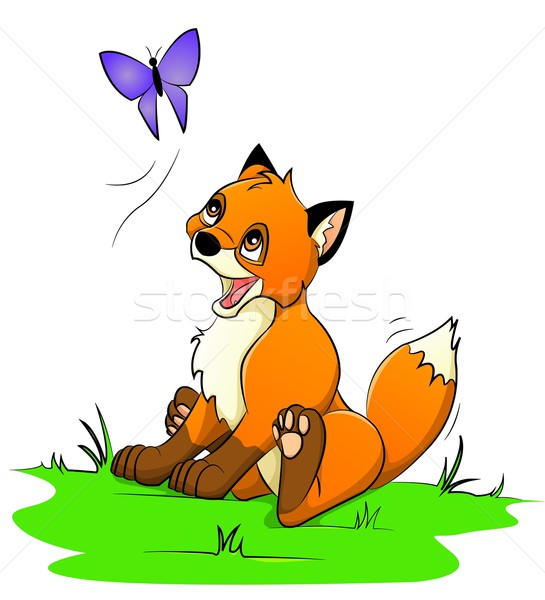 little  fox Stock photo © Li-Bro