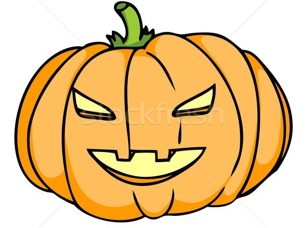 Pumpkin head. Stock photo © Li-Bro