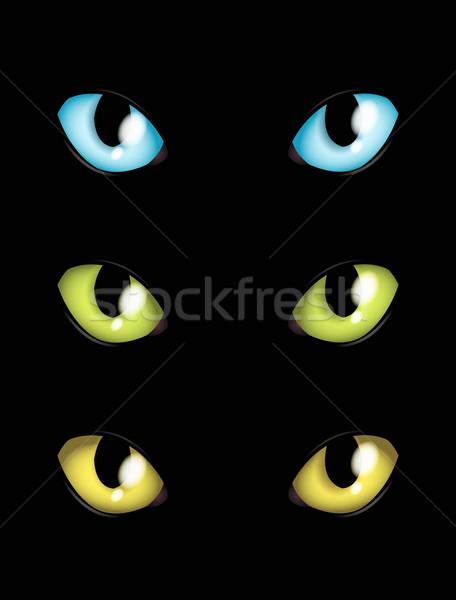 猫 目 異なる 色 顔 青 ストックフォト © Li-Bro