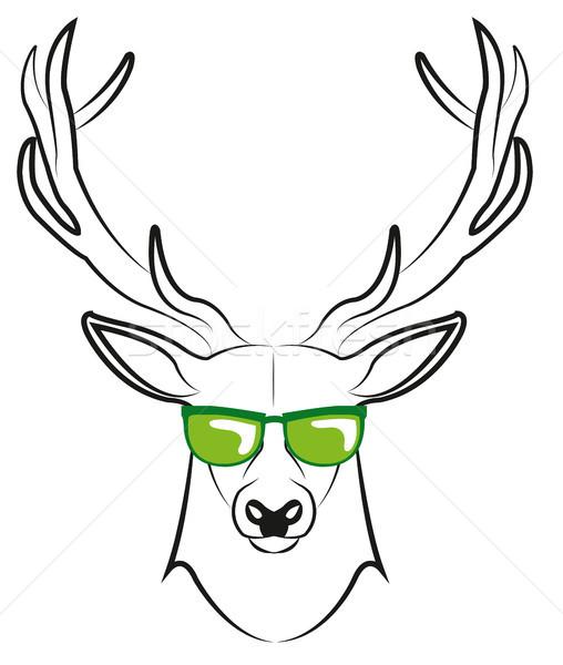 クール 眼鏡 鹿 サングラス トロフィー 孤立した ストックフォト © Li-Bro