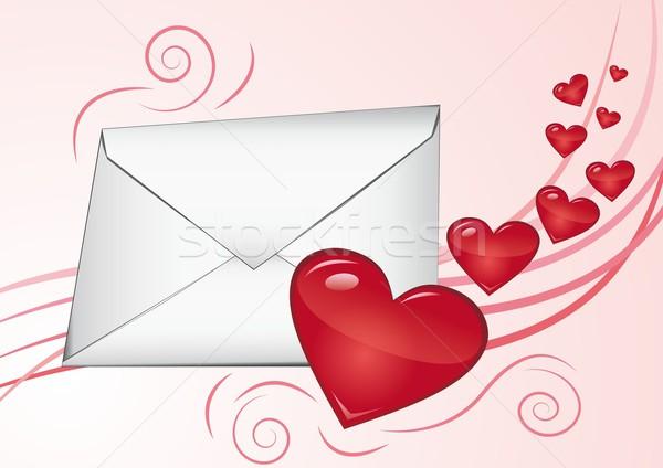 愛 手紙 バラ オレンジ にログイン メール ストックフォト © Li-Bro