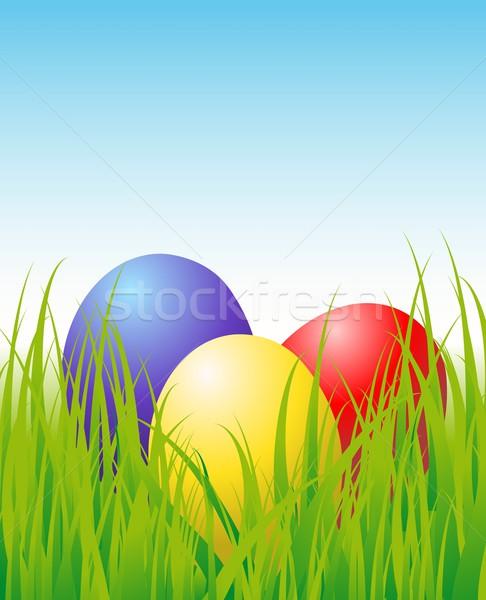 eggs in the grass Stock photo © Li-Bro