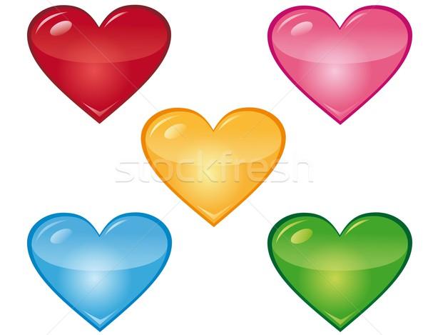 心 異なる 色 愛 バラ 緑 ストックフォト © Li-Bro