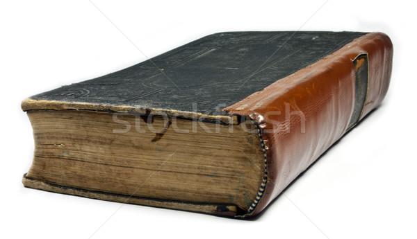 Starej książki papieru książki Biblii biblioteki arkusza Zdjęcia stock © Li-Bro